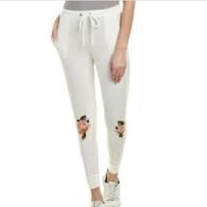 NWT Chaser White Floral Jogger Sweatpants